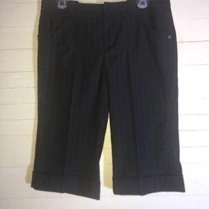 DKNY Black Bermuda Shorts Cuffed